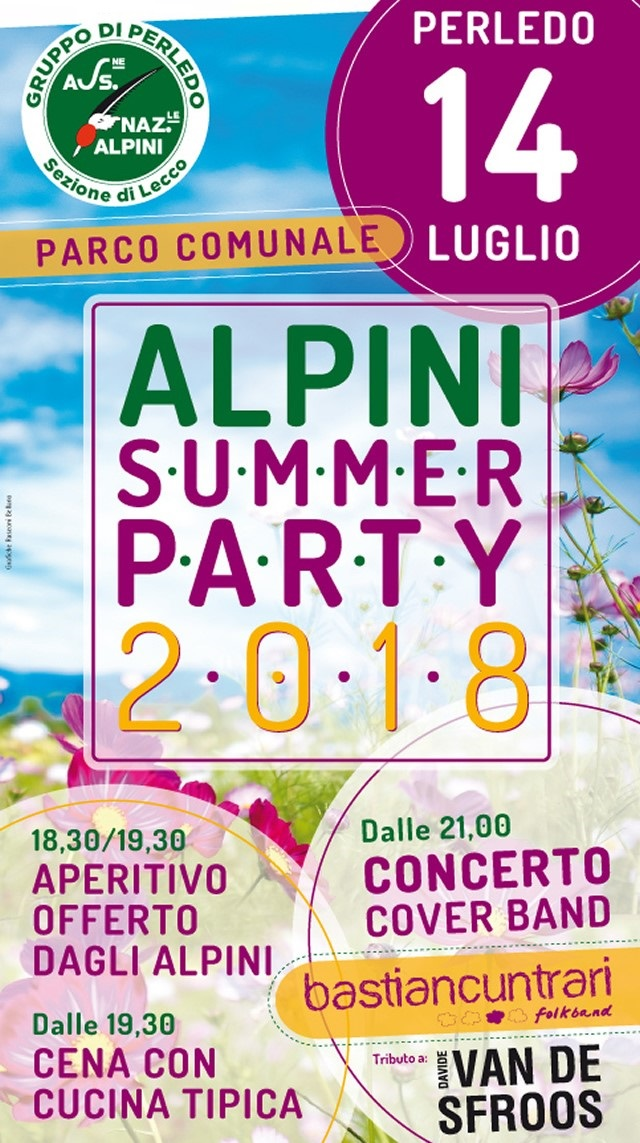 Alpini Summer Party 2018 a Perledo